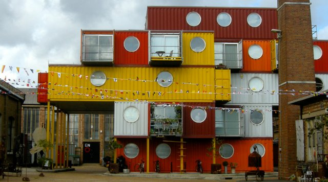 Immeuble sociale conteneur